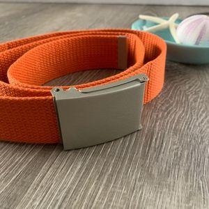 Accessories - Canvas Belt / Military Belt / Orange
